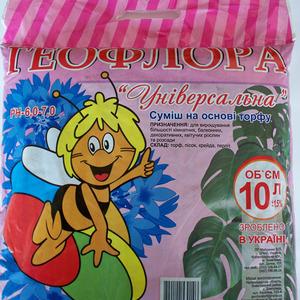 Геофлора  Универсальная смесь для комнатных растений на основе торфа  10л