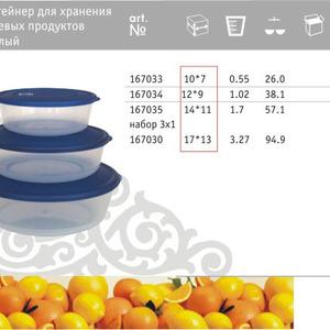 Контейнер для хранения пищевых продуктов круглый