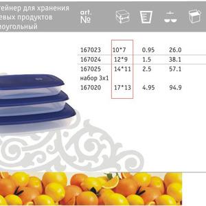 Контейнер для хранения пищевых продуктов прямоугольный